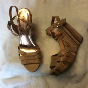 Cute BCBGeneration Wedge Heels with Straps.